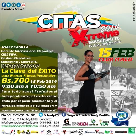 Workshop #MercadeoExitosoParaFitness con Joaly Padilla en #CITAS2014 #Barquisimeto el 15 de Febrero
